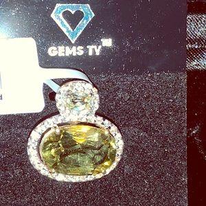 Lemon Citrine Pendant set in 14K Gold